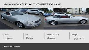 alresford garage reviews mercedes benz slk 2 0 200 kompressor