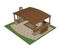 3d sketchup outdoor kitchen design cadblocksfree cad blocks free outdoor kitchen design