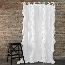 Ruffle Blackout Curtains Charming Idea Ruffle Curtains Beautiful Ideas Ruffle Blackout