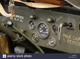 willys jeep interior dashboard on a willys jeep from world war 2 stock photo royalty