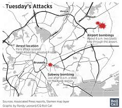 Brussels Map D C Monitors Security After Brussels Terror Attacks