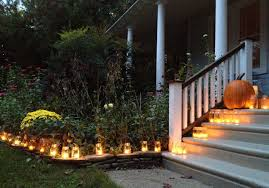 exterior fun outdoor decorating ideas for halloween with spooky