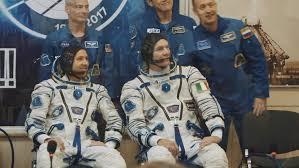 baikonur kazakhstan jule 28 three live real cosmonauts go to