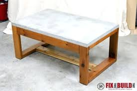 concrete and wood coffee table concrete coffee table diy outdoor concrete top coffee table diy