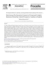 Simple Complex And Compound Sentences Worksheet Determining The Intonation Contours Of Compound Complex Sentences