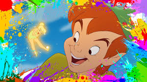 painting peter pan coloring book pages for kids paint and