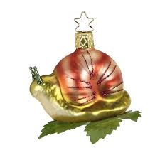 snail ornament inge glas