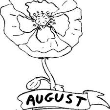 poppy flower in august coloring page poppy flower in august