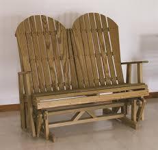 Gliding Adirondack Chairs Pine Wood Adirondack Glider By Dutchcrafters Amish Furniture
