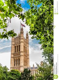 victoria tower in the houses of parliament in london england