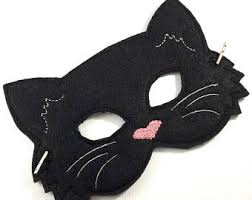Black Kitty Halloween Costume Cat Mask Etsy