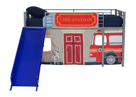 Boys Bunk Beds With Slide Dhp Furniture Fire Department Curtain Set