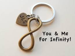 8 year anniversary gift bronze infinity symbol keychain gift couples anniversary