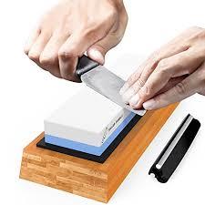 sharpening stones for kitchen knives premium knife sharpening stone 2 side grit 1000 6000 whetstone
