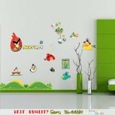 Online Shop Cartoon Cute Colorful Birds Game Wall Stickers For