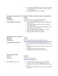 sample resume for a chef chef resume sample writing guide resume