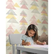 chambre enfant york triangles jaune collection dwell studio de york by initiales