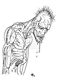zombie coloring sheet free download