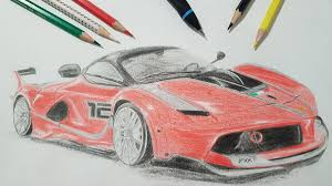 ferrari laferrari sketch ferrari fxxk milano52 draw to drive