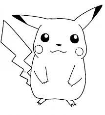 pikachu pokemon coloring pages getcoloringpages