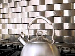 Tin Backsplashes For Kitchens Kitchen Outstanding Silver Metal Backsplash Beautiful Complement