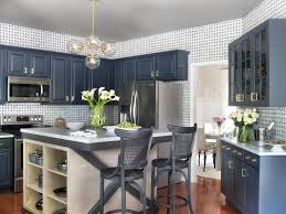 Blue Kitchens With White Cabinets Rooms Viewer Hgtv