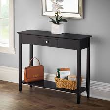 Storage Console Table by The Hidden Storage Console Table Hammacher Schlemmer