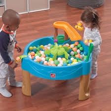 step 2 rain showers splash pond water table step2 duck pond water table with water toys walmart com