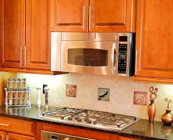 kitchen with tile backsplash decorative tiles for kitchen backsplash tile inserts besto