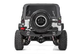 jeep wrangler jk tires rock crawler black rear heavy duty bumper for 07 17 jeep wrangler
