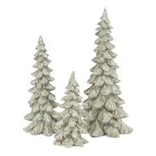 department 56 4047946 silver trees set of 3