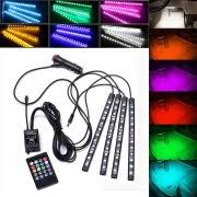 remote control led strip lights casung car interior atmosphere neon lights strip 4x12 led rgb strip