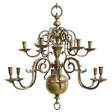 Baroque Chandelier Baroque 18th Century Bronze Two Tier Chandelier For Sale At