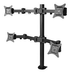 articulating monitor desk mount articulating quad monitor desk mount 13 to 27