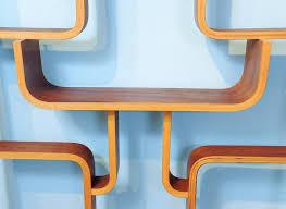 marvelous zig zag room divider czech roomdivider vintage plywood