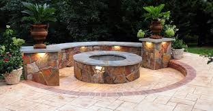 Stone Patio With Fire Pit Excellent Ideas Outdoor Stone Fire Pit Pleasing 1000 Images About