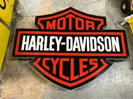 harley davidson lighted signs vintage harley davidson dealer illuminated metal box sign rare