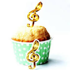 300pcs gold harmony musical notes cakes flags cupcakes toppers