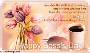 lucky working with you free women boss ecards greeting cards