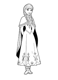 frozen anna coloring pages print coloringstar