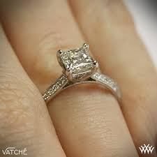 princess cut engagement rings with halo caroline pave engagement ring for princess cut diamonds by