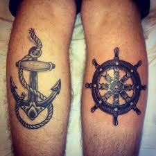 Nautical Tattoos by Nautical Tattoo U0027s Anchor And Ships Wheel Tattoo Pinterest