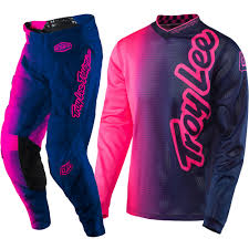 kids motocross gear combo troy lee designs new 2017 mx gp air 50 50 flo pink navy tld