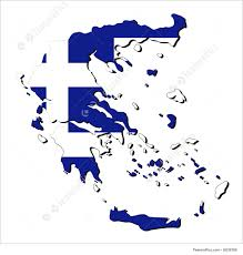 Greek Map Greece Map Flag Illustration