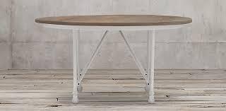 restoration hardware flatiron table flatiron collection natural elm distressed white metal rh