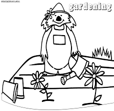 gardening coloring pages coloring pages to download and print