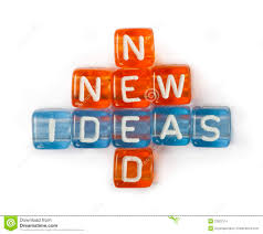 texts ideas new and need on colorful cubes stock photo image