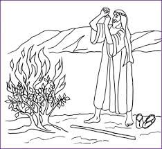 Moses And Burning Bush Coloring Pages Robertjhastings Net Bible Coloring Pages Moses