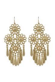 dangling earrings riah fashion gold flower dangling earrings from california