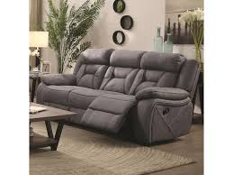 coaster houston 602261 casual pillow padded reclining sofa with